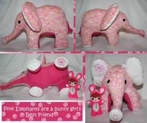 Pink Elephants by ikklesammy