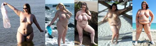 Chubby women on the beach 1 by EnergyToBeauty