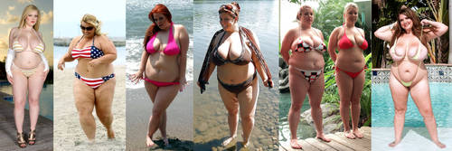Chubby bikini women on the beach 1 by EnergyToBeauty