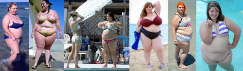 Chubby bikini women on the beach 2 by EnergyToBeauty