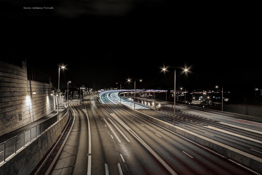 the road night by ArcticRay