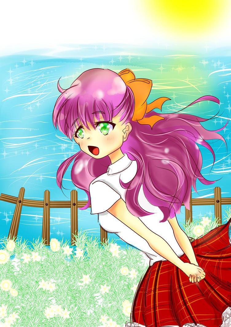 Anime school girl by Tenzys