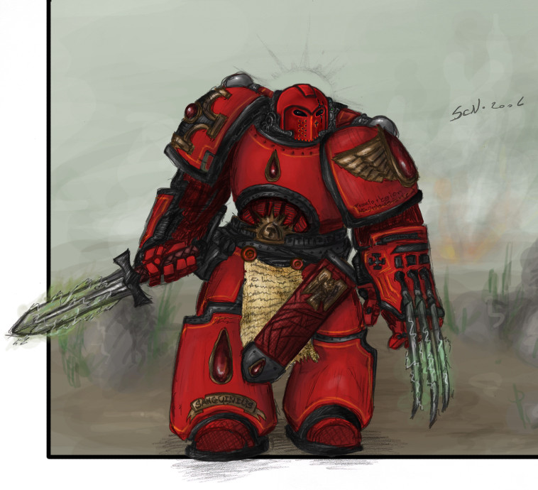 [W40K] Collection d'images : Space Marines Blood_Angel_Captain_Argus_by_Ironwulfen