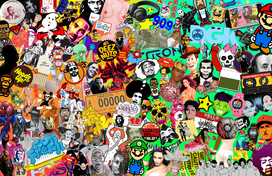 pop art and culture collage