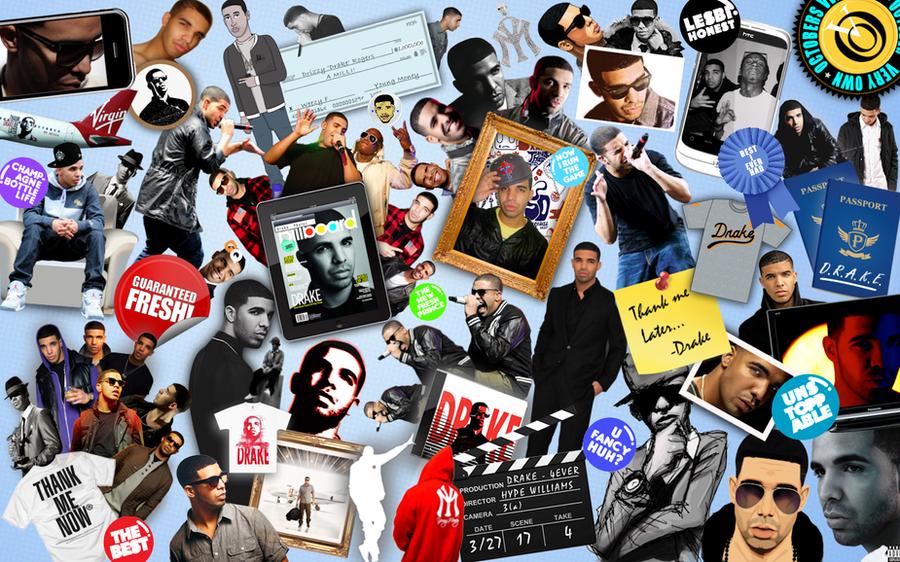 Drake Mixed Media Collage by Jeramiah327