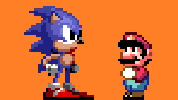 16 Bit Mario Characters Sonic and mario in the 16-bit: http://imgarcade.com/1/16-bit-mario-characters/