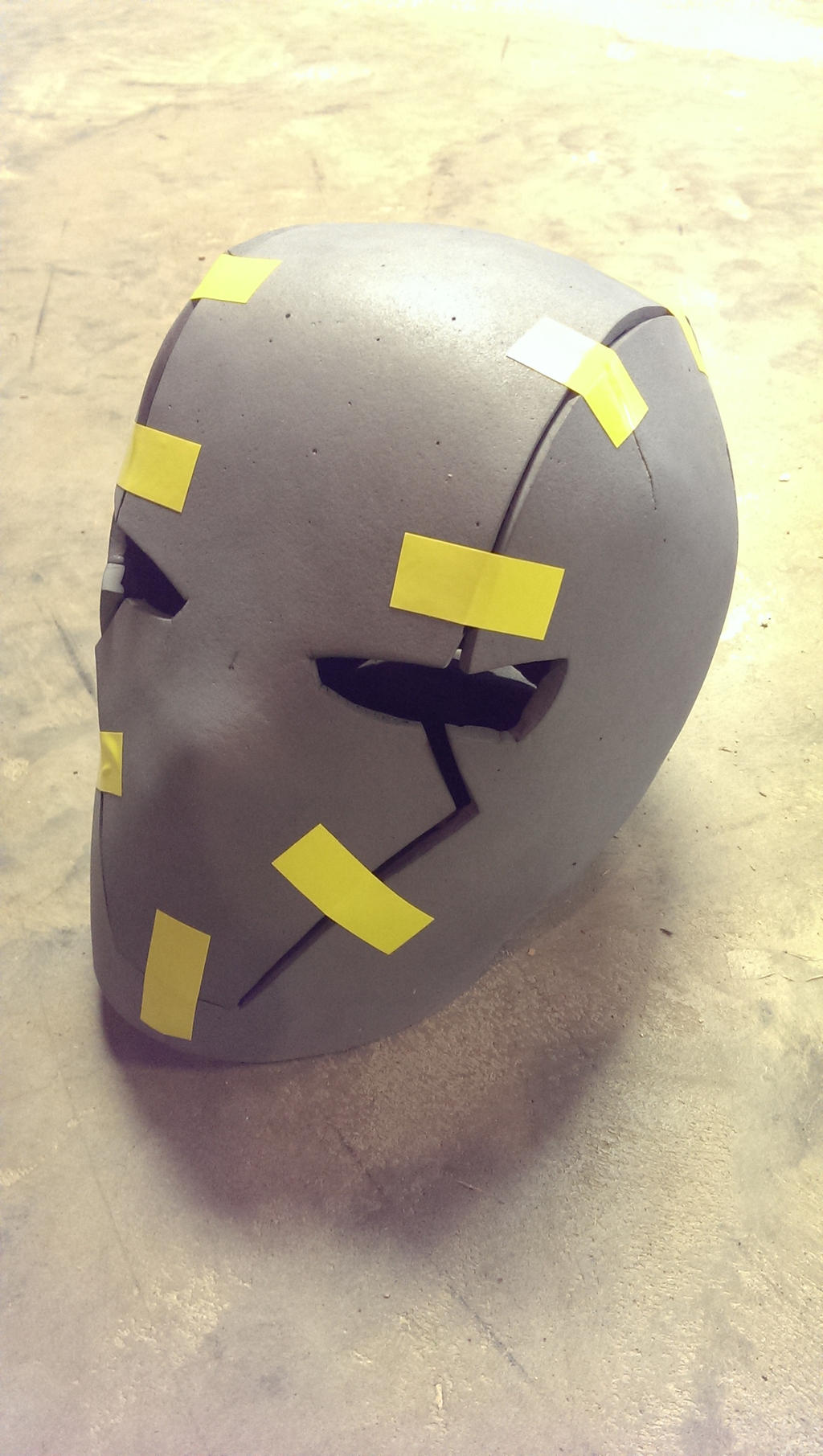red hood helmet wip by memrgrunt on deviantart. Black Bedroom Furniture Sets. Home Design Ideas