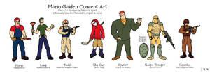 Mario Gaiden Character Designs