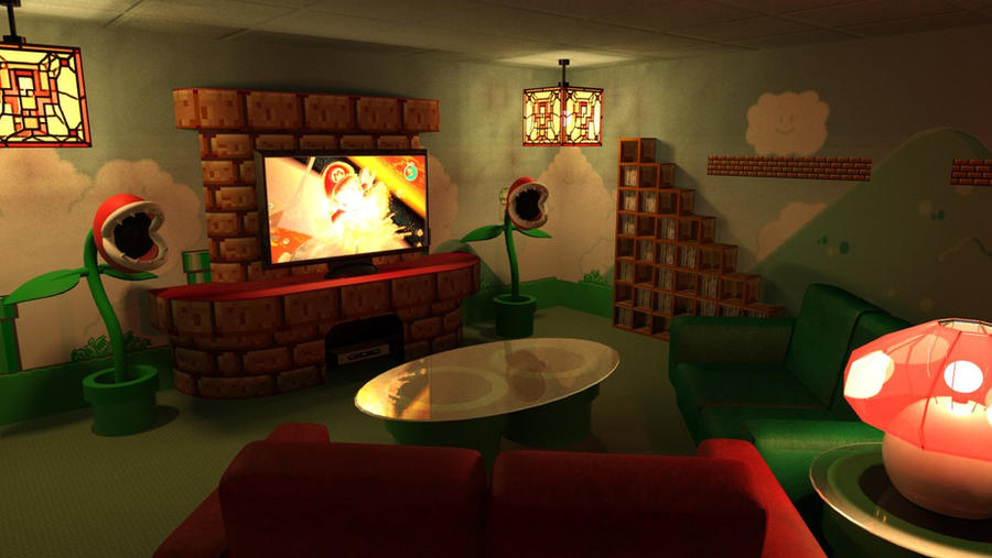 Mario-Themed Home Theater