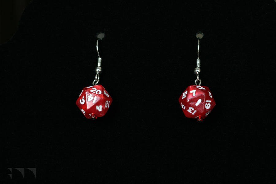 D20 Earrings by robertllynch