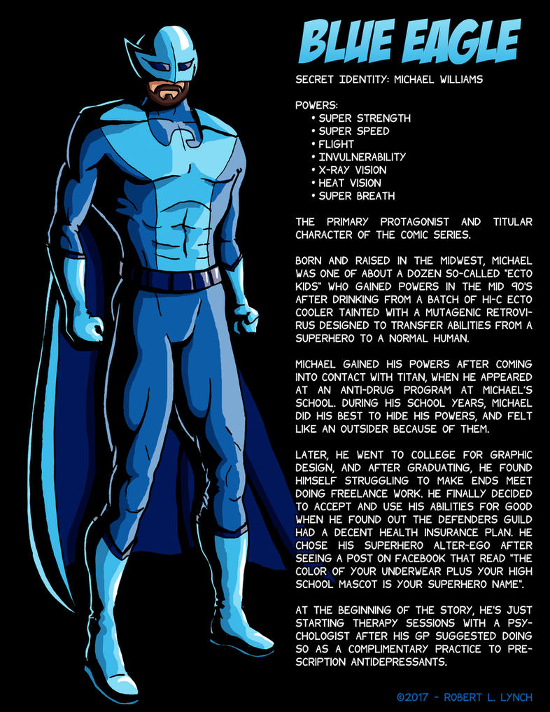 Blue Eagle - Character Profile by robertllynch