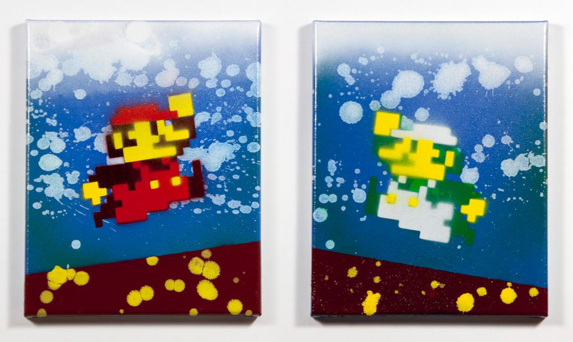 Mario Bros Diptych by robertllynch