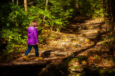 Short Kid on a Short Hike by robertllynch