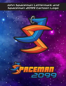 John Spaceman Lettermark and Spaceman 2099 Logo