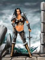warrior girl by AntonRosovsky