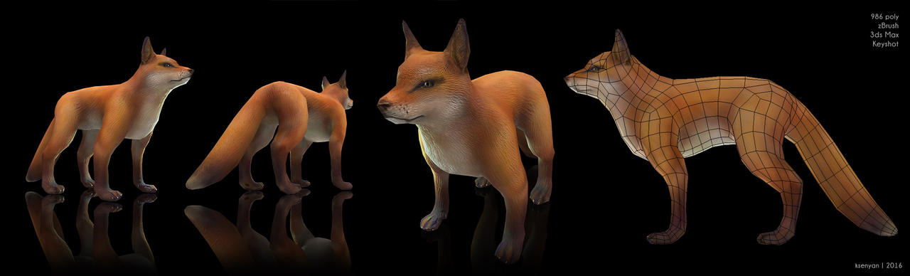 Low Poly Foxey