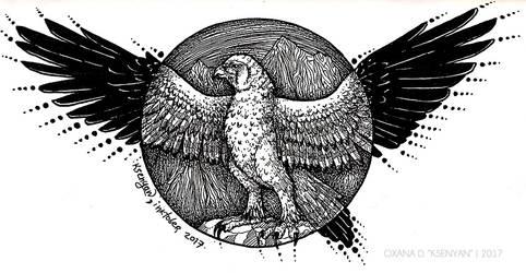 Inktober-1 - A Hawk