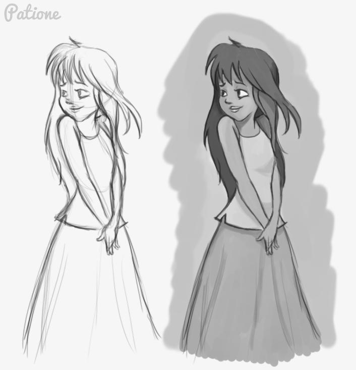 Sketch - Little Girl By Patione On DeviantArt