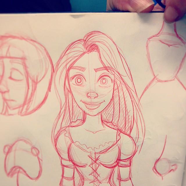 Rapunzel - Desenho do dia! by patione