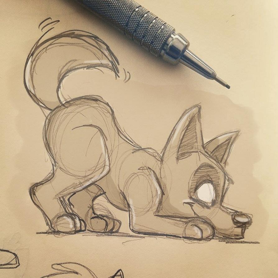 Estudo do dia - Cachorro by patione