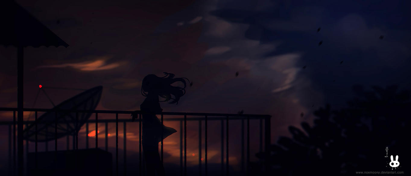 Monsoon evening by Noxmoony