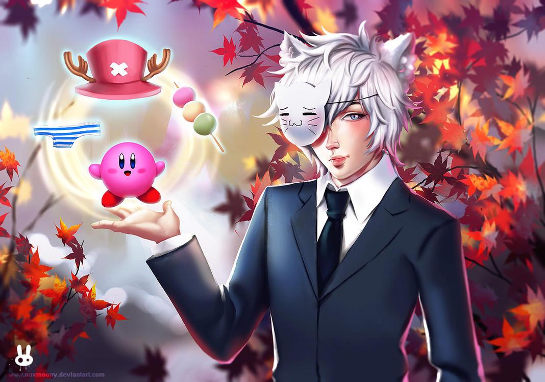 Ze Animeman in autumn :3 by Noxmoony