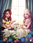 SS: Tea party with Elsa and Belle