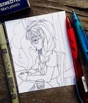 INKTOBER 07 - Coffee Contemplations