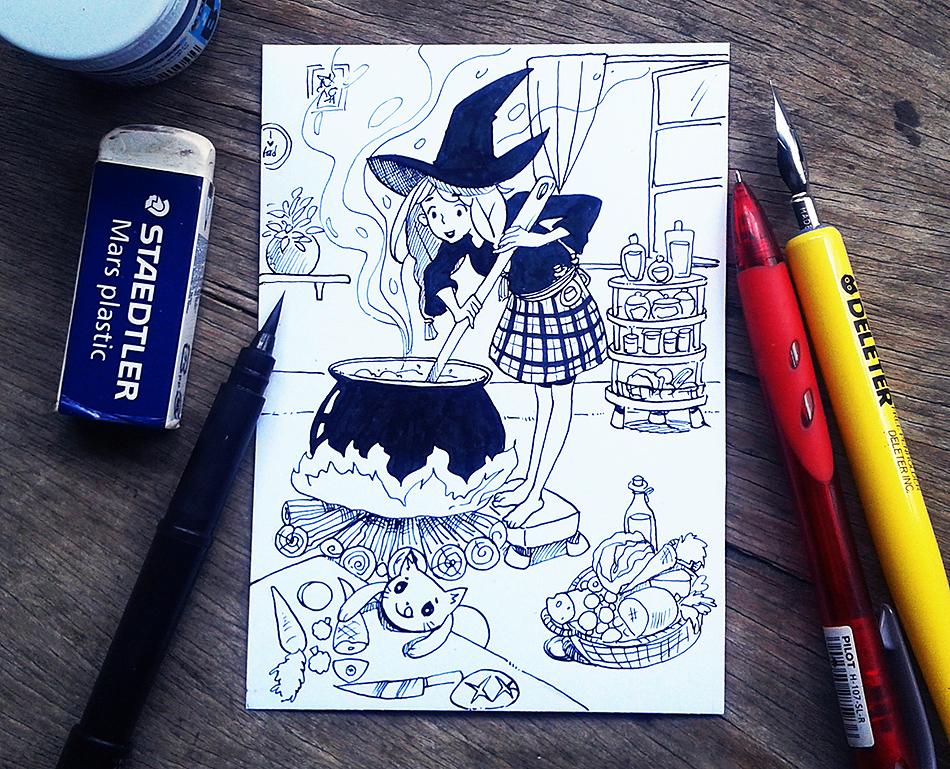INKTOBER 11 - Cream Stew by Noxmoony