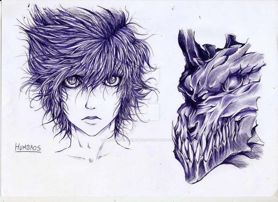 Humbross - dark god of death -Skin pen- by thunderalchemist18