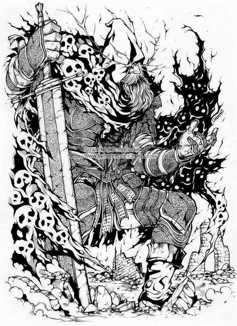 Slave knight Gael - Dark Souls by thunderalchemist18