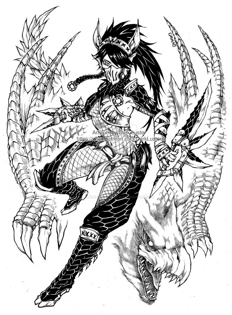 Nargacuga armor - Monster Hunter by thunderalchemist18