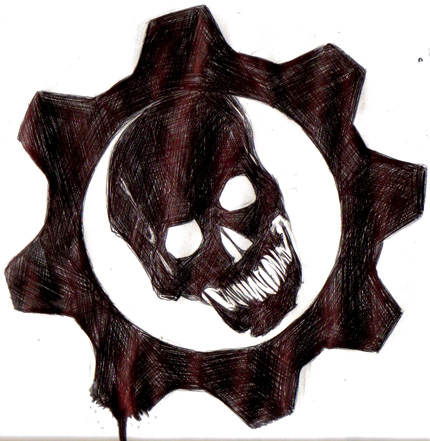 Gears of war logo by thedeependcrossfade on deviantart gears of war logo by thedeependcrossfade voltagebd Choice Image