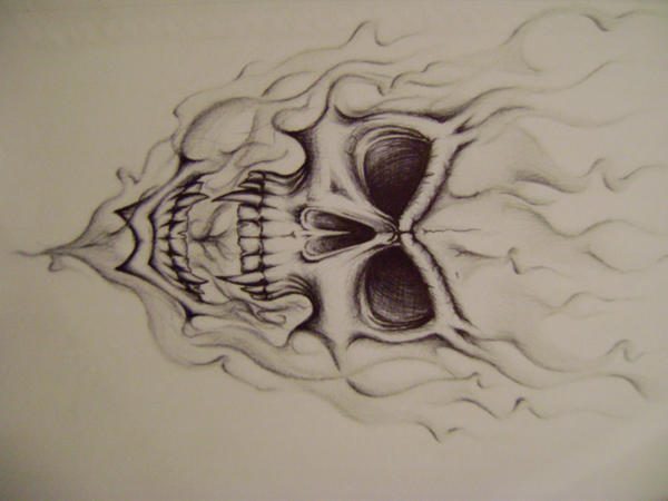 Skulls Smoke Drawings