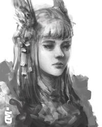 Girl Sketch by Norvice