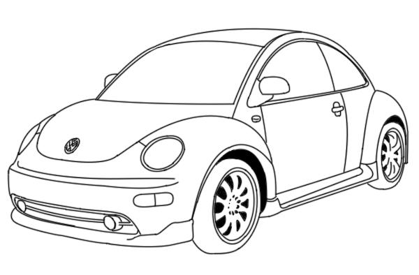 Bug Car Coloring Pages : Vw beetle by mahkuh on deviantart