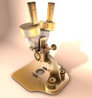 Old microscope final by 3Dapple