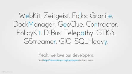 elementary Loves Developers by CassidyJames