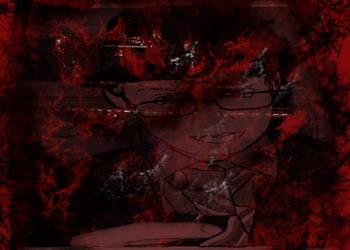 Blood portrait by davidcelticwerewolf