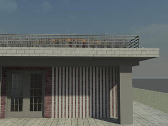 Storage Container House- Front Entrance by davidcelticwerewolf