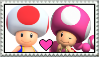 Toad x Toadette Stamp by Pegasister28