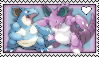 Nidoking and Nidoqueen Stamp by Pegasister28