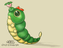 010: Caterpie by Mabelma