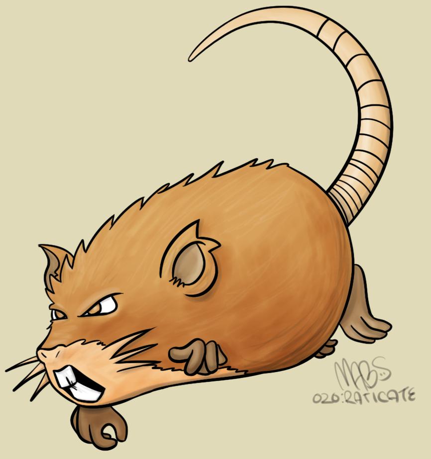 020: Raticate by Mabelma