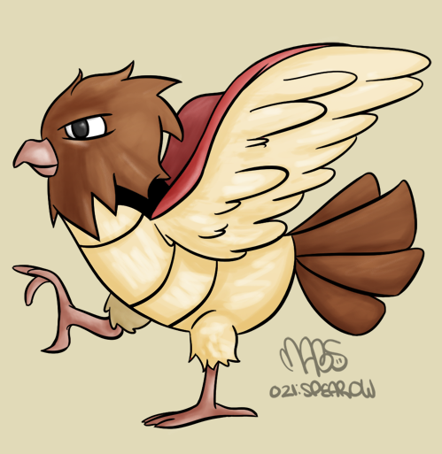 021: Spearow by Mabelma