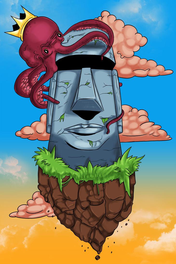 Moai Statue Print by Mabelma