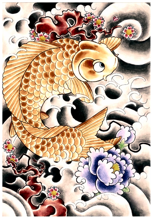 Japanese Koi Fish Tattoo Designs Gallery 29