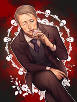 Dr.Hannibal Lecter by kanapy-art