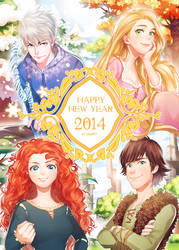 Happy New Year 2014! by kanapy-art