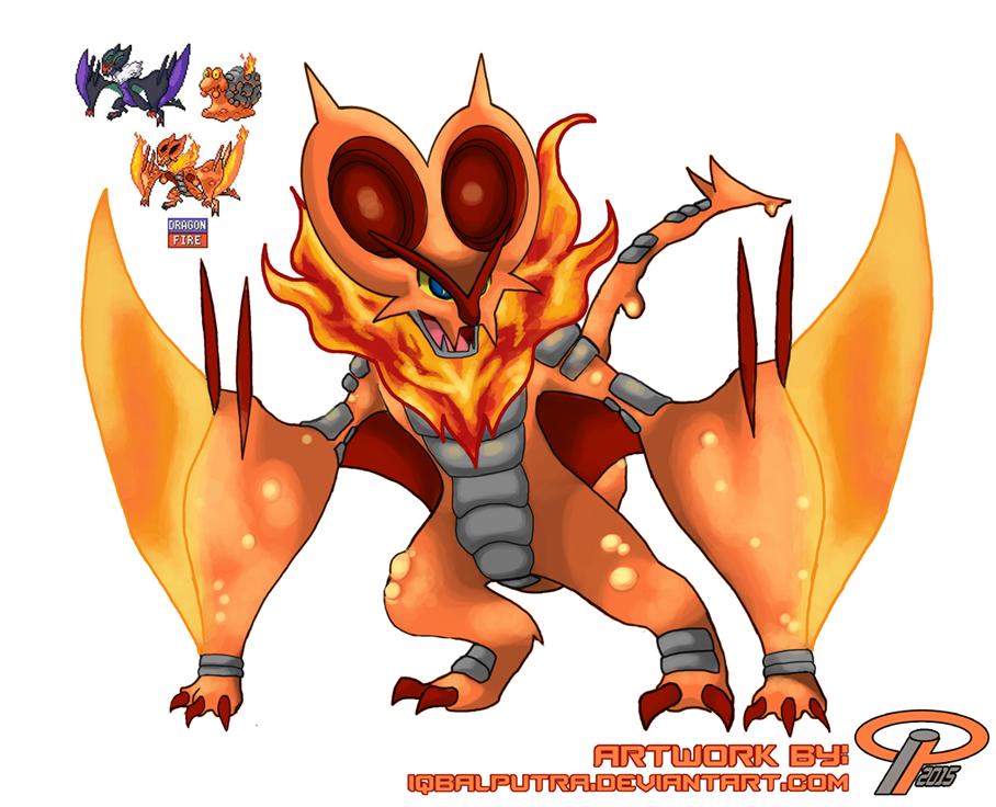 Pokemon Fusion NOIVERN X MAGCARGO By InfinitePieces On